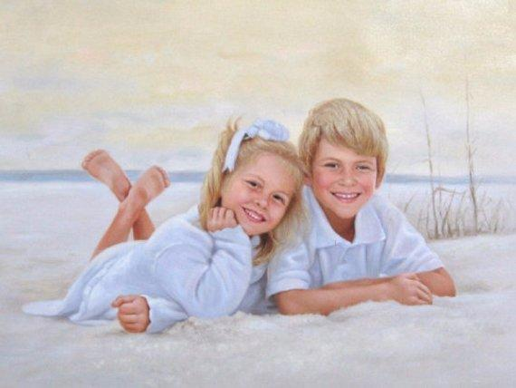 Personalized Oil Painting From Photos, handcraft art on Canvas-Show Case DML101580-24
