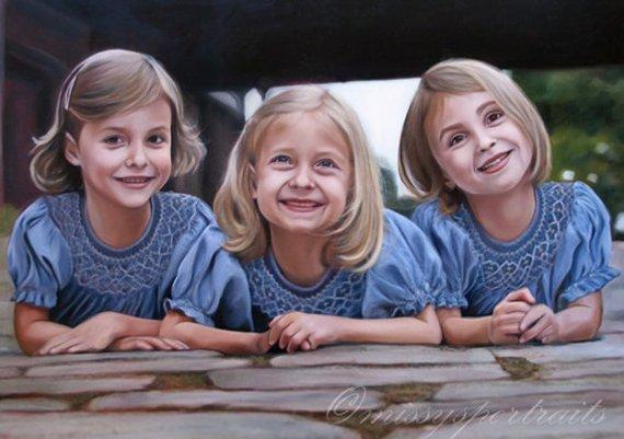 Personalized Oil Painting From Photos, handcraft art on Canvas-Show Case NOR101423-24
