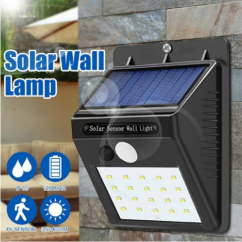 20 LEDs Solar Powered Light PIR Motion Sensor Wireless Solar Lamp Waterproof Outdoor Garden Yard Wall LED Light Lamps