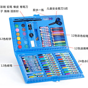Children's drawing set 86 pieces of crayon watercolor pen combination