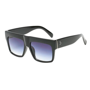 Rivet glasses flat top black sunglasses female