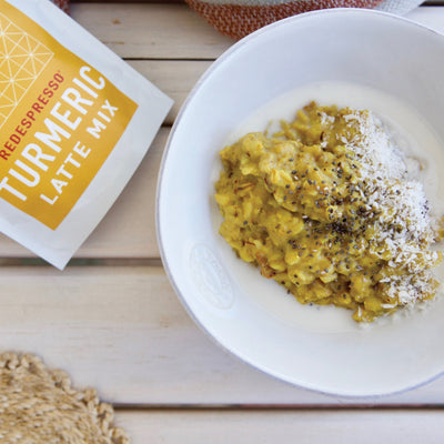 Golden turmeric oatmeal
