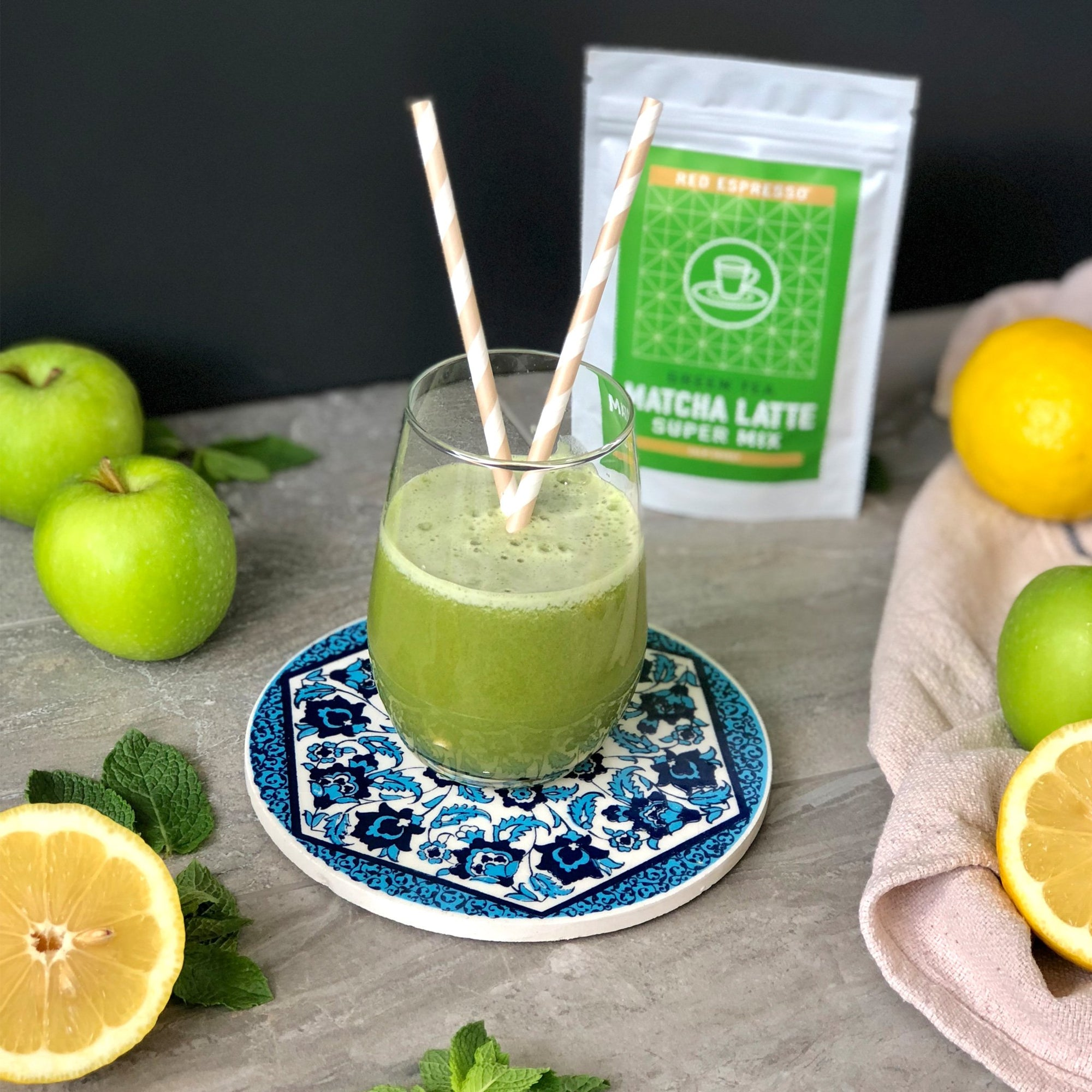 Apple matcha green juice recipe