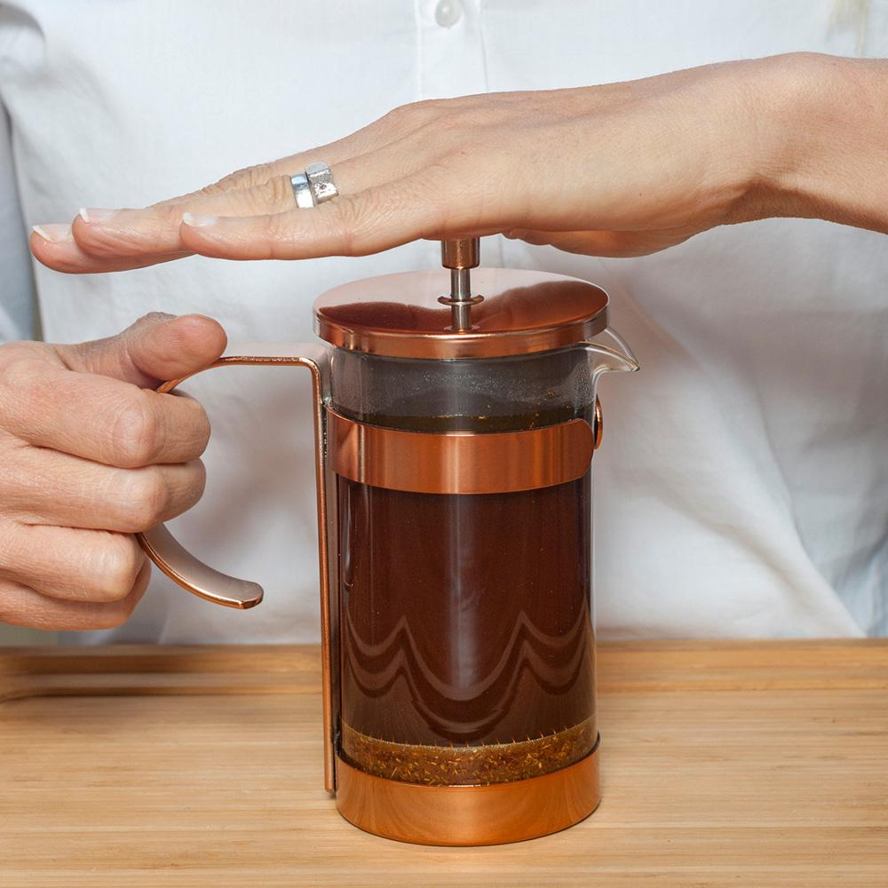 Brew red espresso® Rooibos using your french press