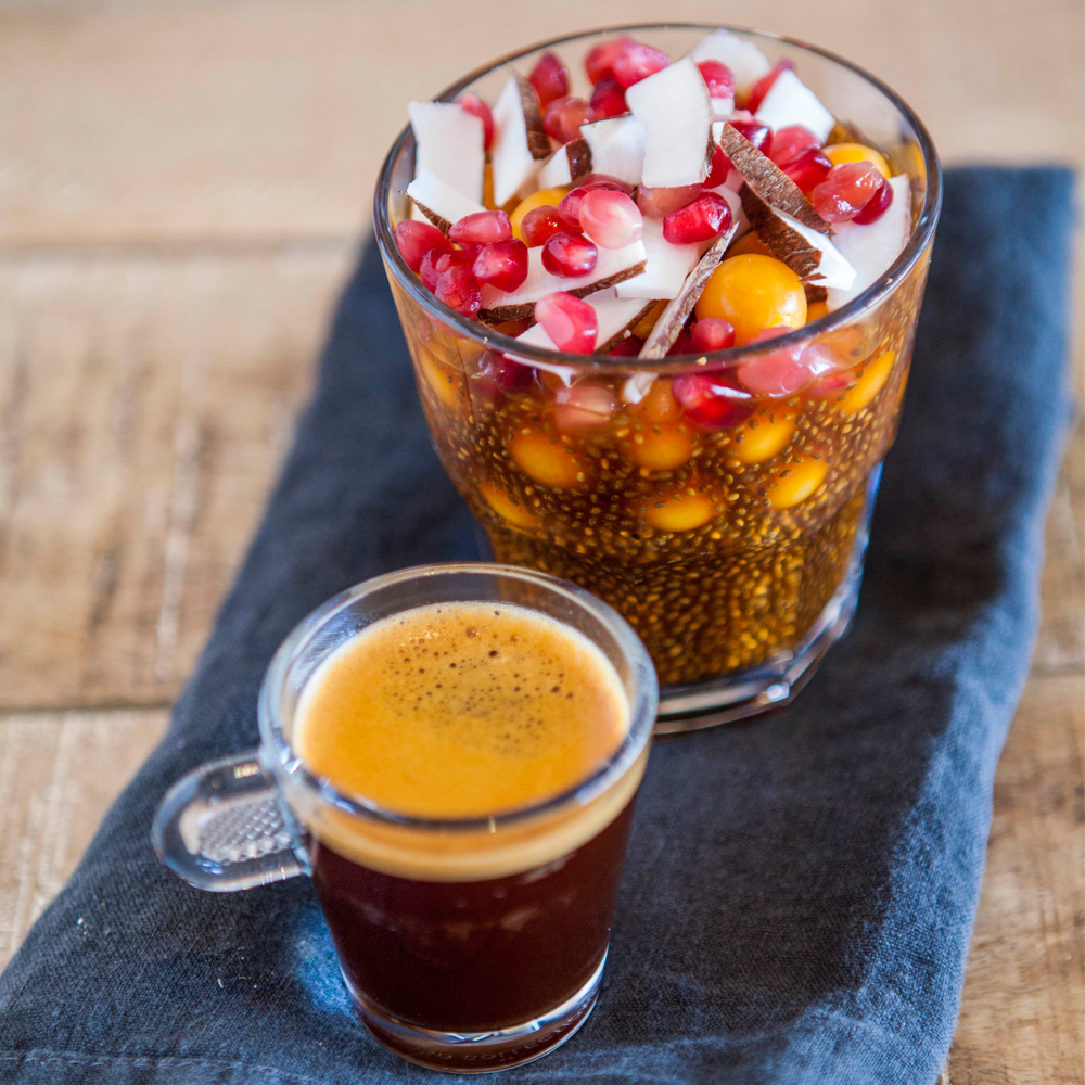 antioxidant foods and drinks. A Rooibos and a Chia pudding
