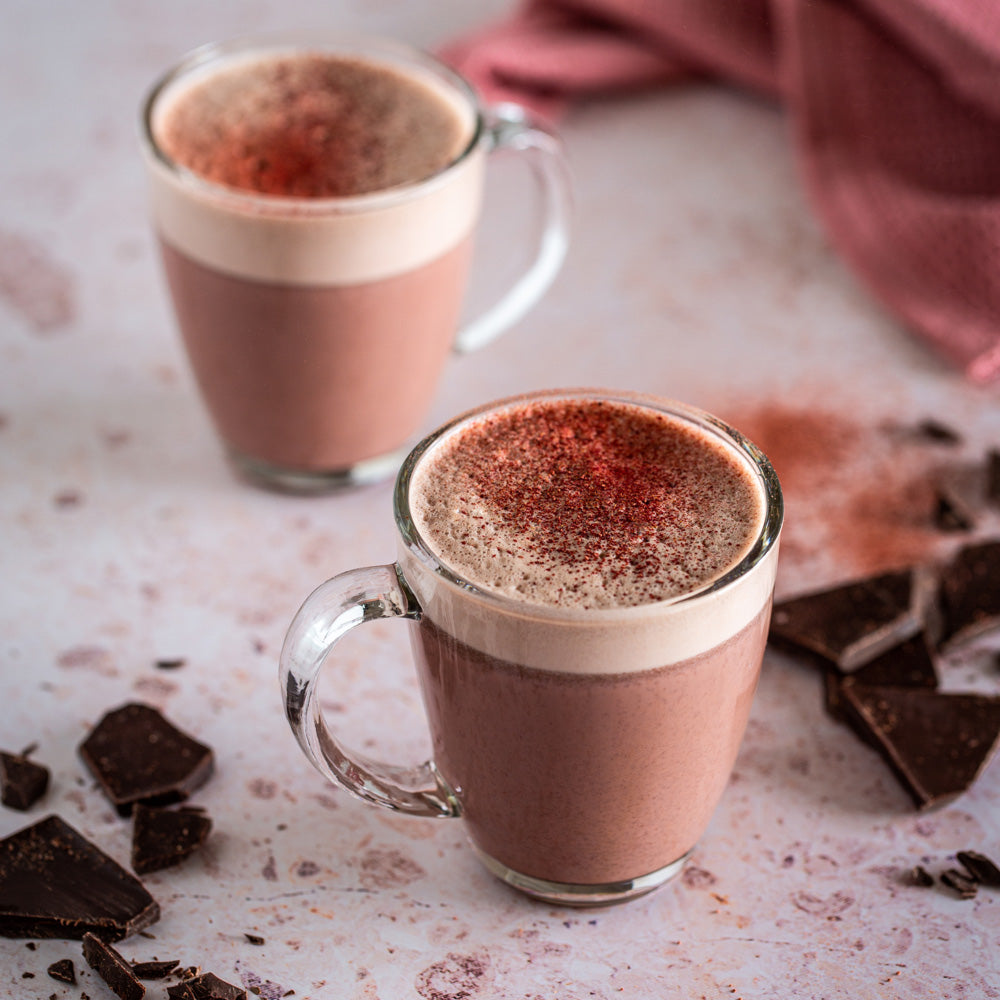 Sweet beet hot chocolate