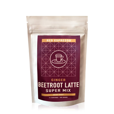 beetroot latte mix from red espresso brand