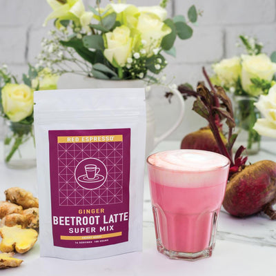 beetroot latte mix product from red espresso brand