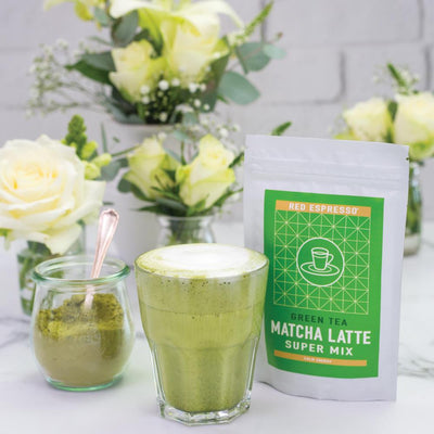 matcha latte mix product from red espresso brand