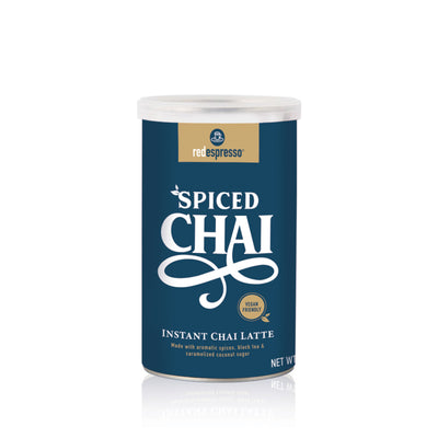 instant spiced chai latte tin from red espresso brand
