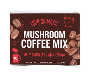 Four Sigmatic Mushroom Coffee Mix - Cordyceps & Chaga | 10 Beutel á 2,5g Inhalt