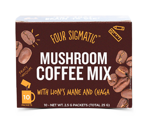 Four Sigmatic Mushroom Coffee Mix - Lion's Mane & Chaga | 10 Beutel á 2,5g Inhalt
