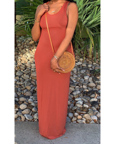 "The ""Destiny"" Maxi Dress (Rust)"
