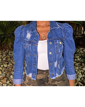 "Load image into Gallery viewer, The ""What the Puff"" Jacket (Medium Denim)"