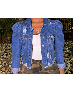 "The ""What the Puff"" Jacket (Medium Denim)"
