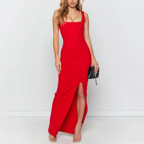 Sling Backless Sexy Tight Maxi Dress