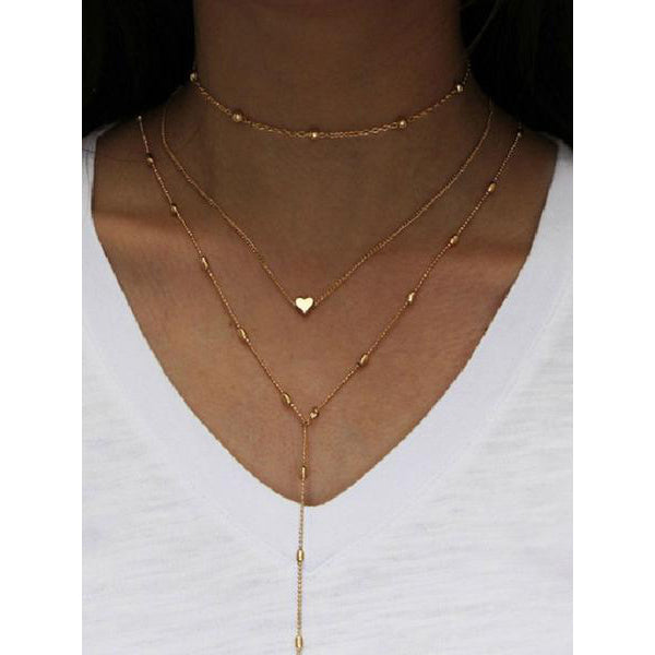 Three Pieces Long Necklace For Women