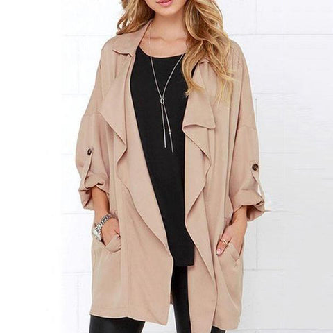 Oversize Plain Trendy Trench Coat
