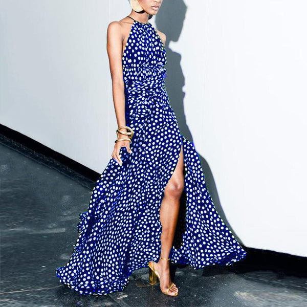 Sexy Wave Point  Maxi Dress