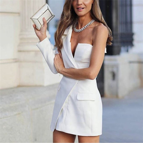 Women's Fashion   Asymmetric White Dress