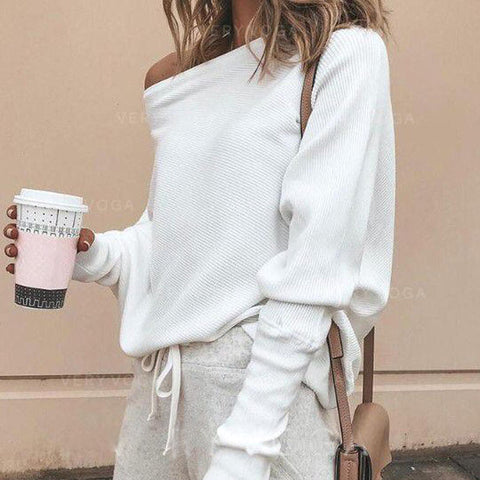 Solid Off-The-Shoulder Blouse