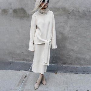 Fashion Solid Color Long Sleeve Sweater