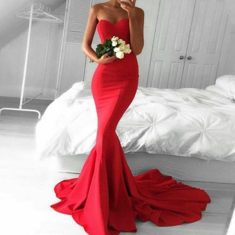 Sleeveless Tube Top Sexy Party Tight-Fitting Bag Hip Fishtail Dress