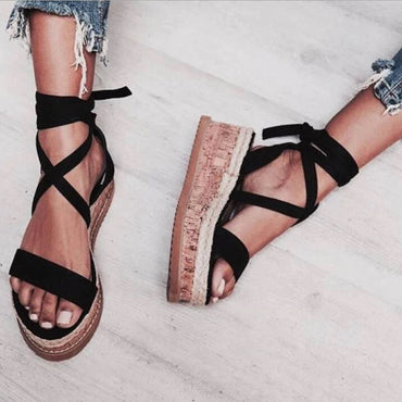 Lace Up Women Sandal