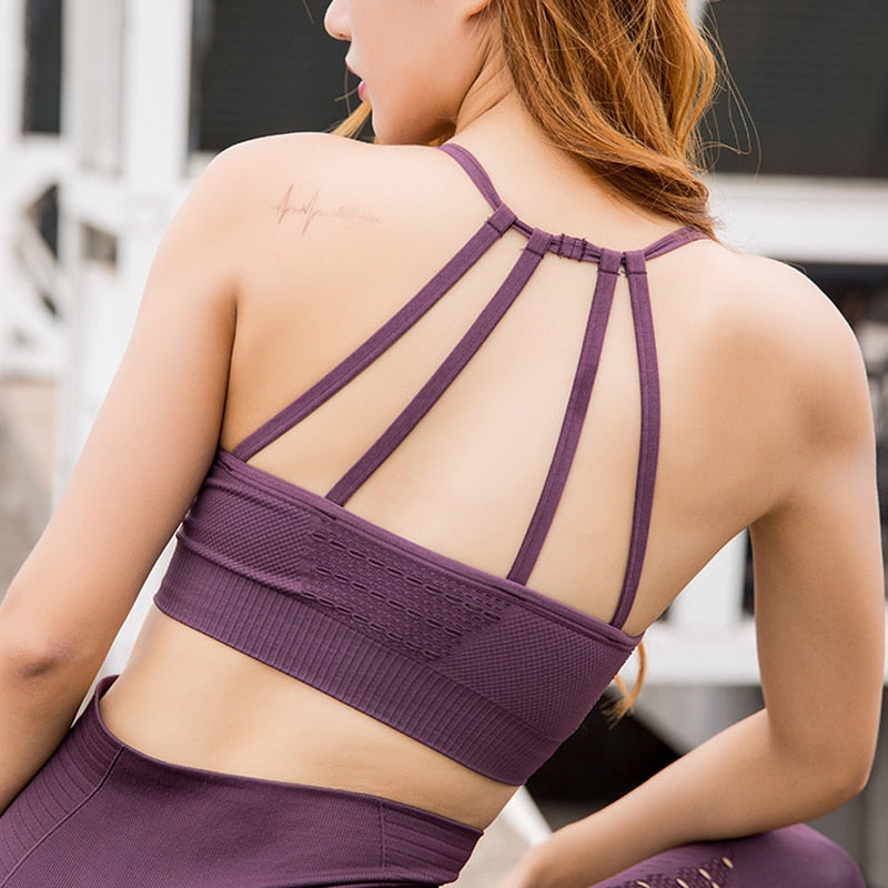 Fitness Gym Crop Vest Top Yoga Bra