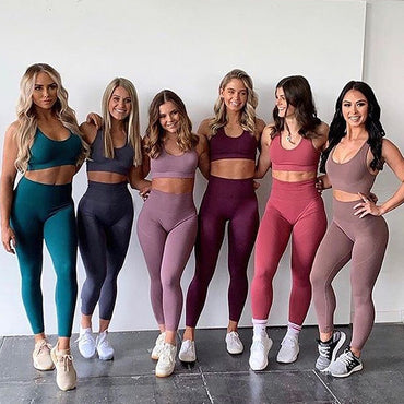 Seamless Gym Fitness Wear Yoga Sets