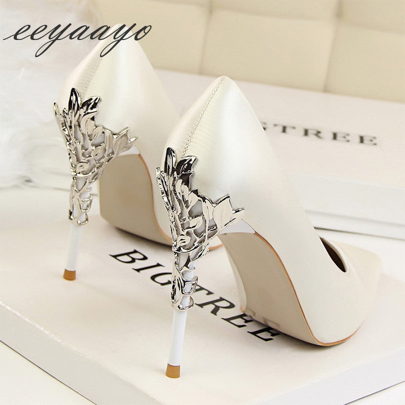 Thin High Heel Wedding Shoes