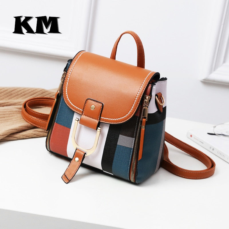 Leather Shoulder Mini Backpack