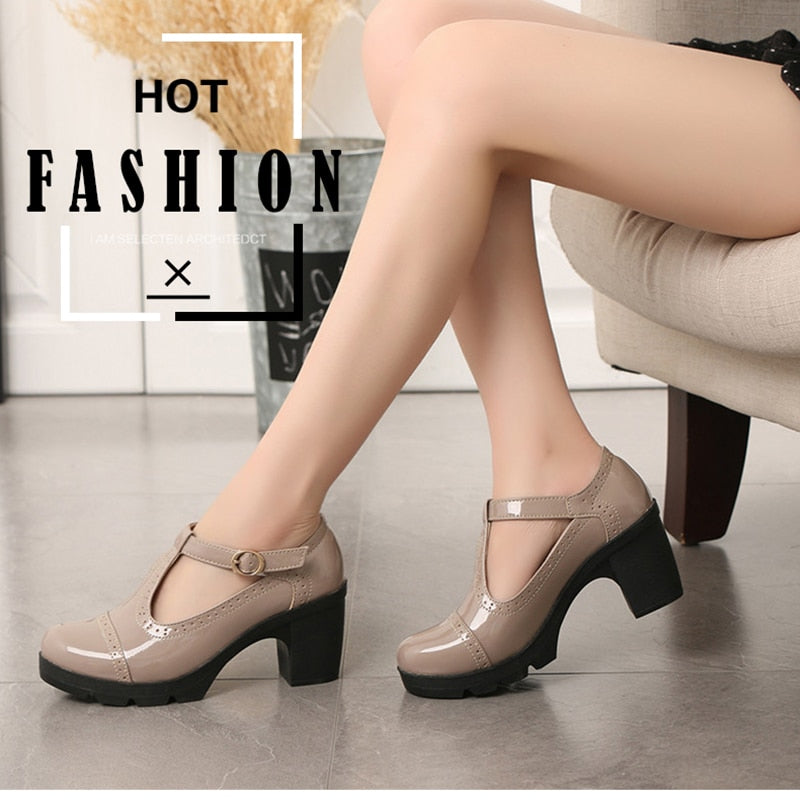 Thick High Heel Casual Shoes