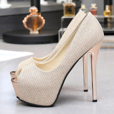 Sexy Peep Toe Stiletto High Heel