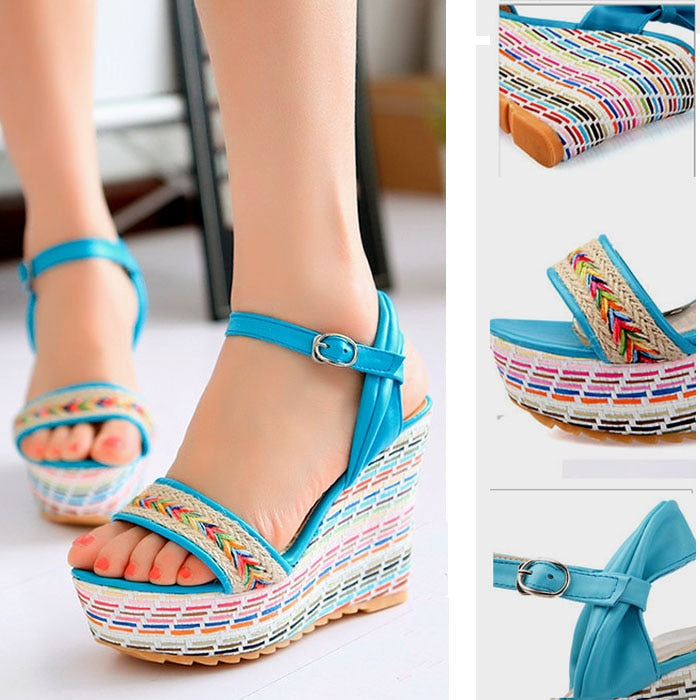 Cute Heel wedges sandal platform