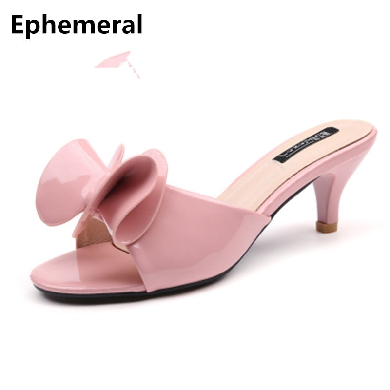 Sweet Bow high heels Princess Slipper
