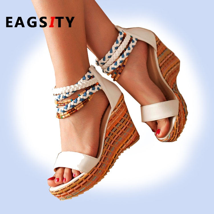 casual women beach platform sandal