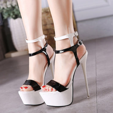 Super Thin Heels Ankle Cross Strap Sandal