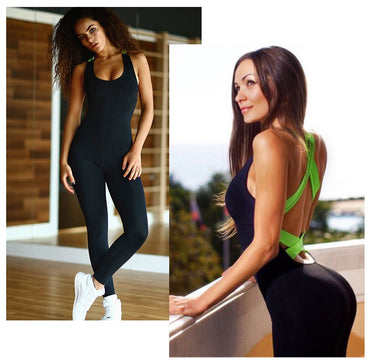 Backless Tracksuit Sport Workout