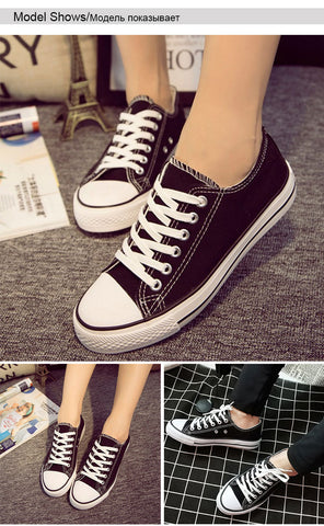 Casual Lace-up Canvas Comfortable Sneakers