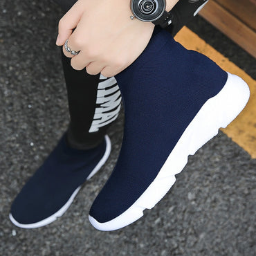 Chunky Knit Upper Breathable Sneakers