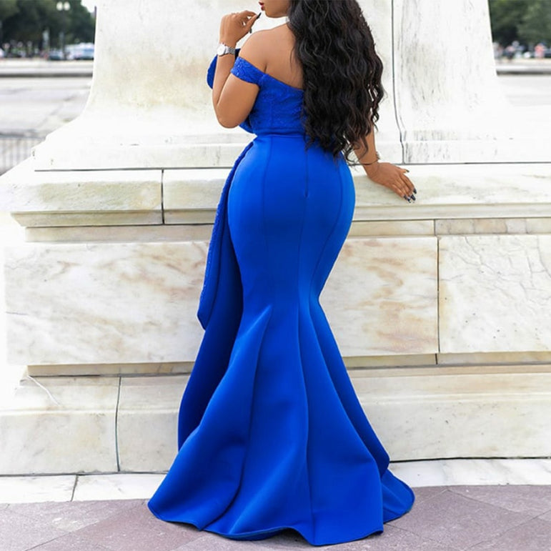 Off Shoulder Long Mermaid Dress