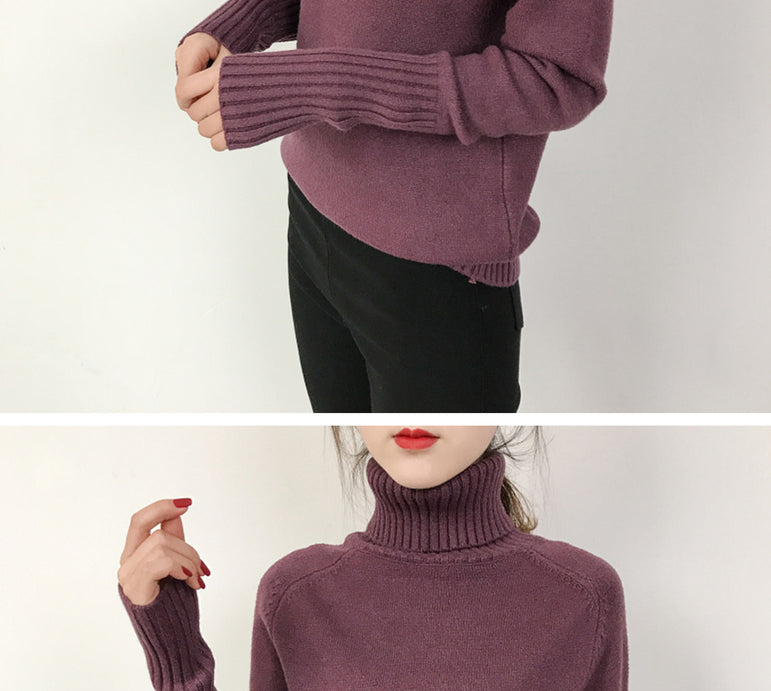 Winter Cashmere Knitted Pullover Sweater