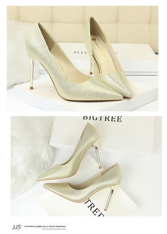 Thin High Heel Pointed Fashion Shoes
