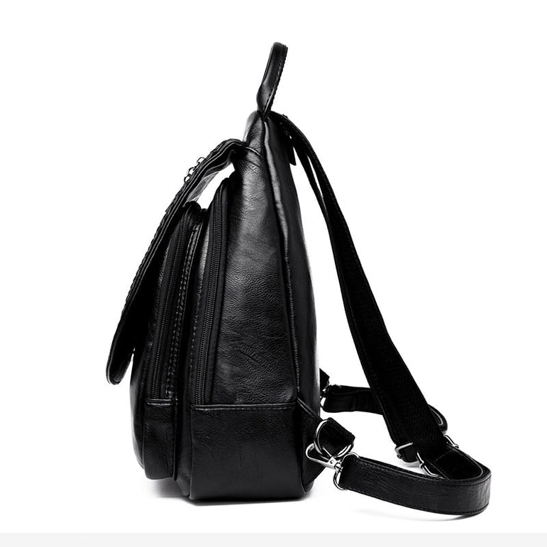 Leather Zipper Backpacks