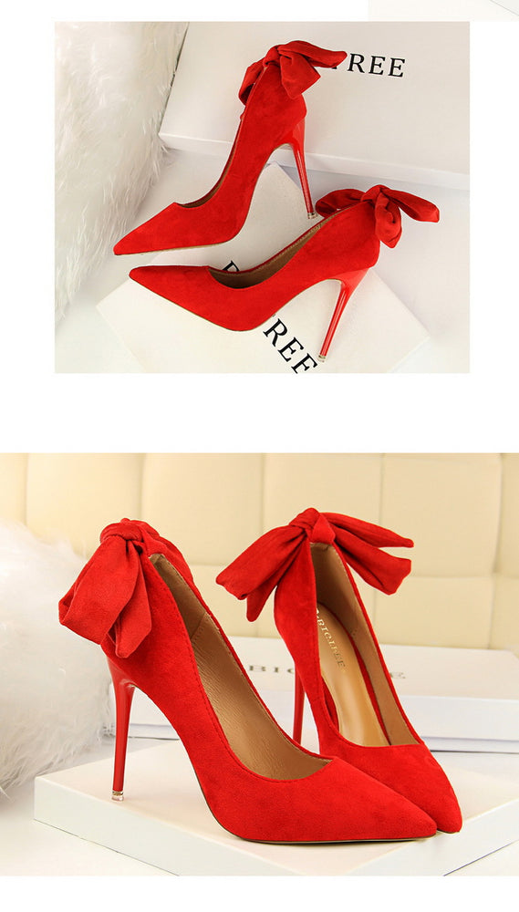 Elegant High Heels Shallow Stripper Pump