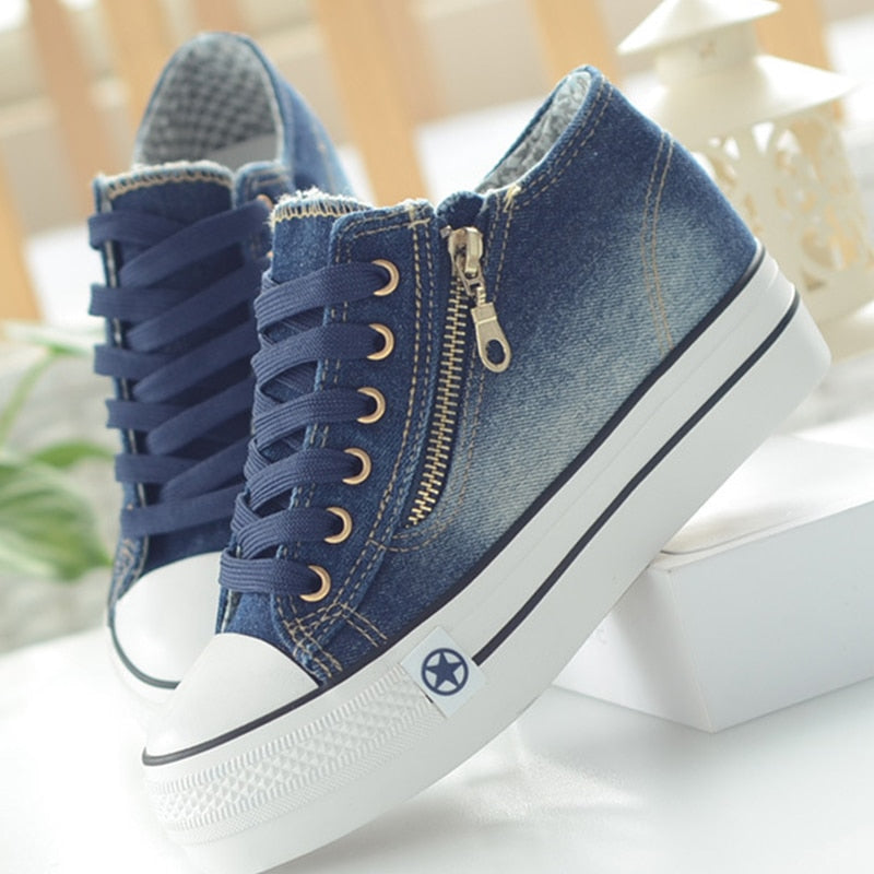 Casual Canvas Lace Up Sneakers Shoes