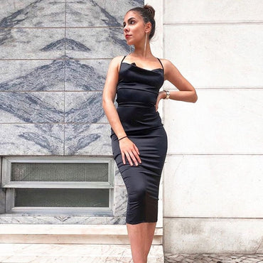 Elegant Bodycon Long Midi Dress