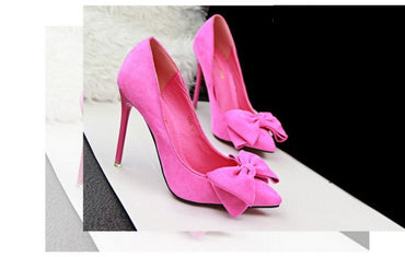 Stiletto High Heels Bowtie Pump