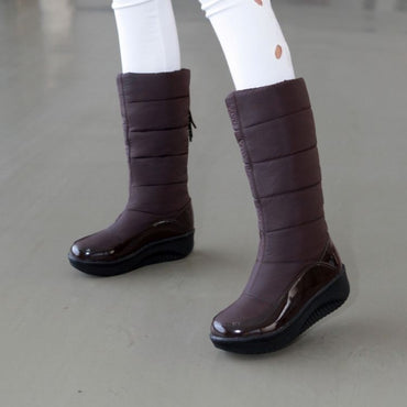 Leather Snow Winter Warm Knee Boot